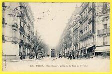 cpa 75 - PARIS Avenue MOZART prise Rue de l'YVETTE Animée Charette de Foins