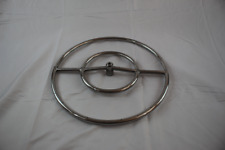 """New listing 18"""" Stainless Steel Round Double Fire Pit Ss Burner Ring (Pack of 10)"""