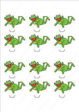 Cupcake Toppers Kermit La Grenouille Personnalisé Papier de Riz Glaçage Feuille 855