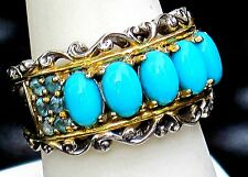 MICHAEL VALITUTTI  GEMS EN VOGUE NH SLEEPING BEAUTY TURQUOISE,RING   SIZE 8