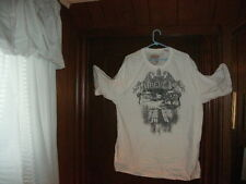 Timberland t-shirt short sleeve color white with gray CITY SCENE size MediumTall