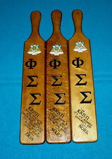 "3 UNIVERSITY of ILLINOIS ""Phi Sigma Sigma"" SORORITY HOUSE Girls Paddle DANVILLE"