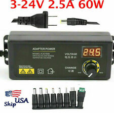 Adjustable Voltage 3 To 12v 5a Ac Dc Switch Power Supply With8 Adapter Led Display