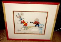 warner brothers cel bugs bunny yosemite sam diving hare 1 signed friz freleng