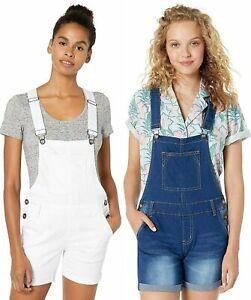 Cover Girl Jeans Juniors Cute Denim Overall Shorts Shortalls Bib Strap