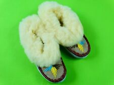 Cozy Warm Womens Poland Leather Sheepskin 100% Wool Fur Moccasins Slippers House