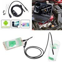 OTG 7mm Endoscope Borescope USB Android Inspection Camera 6 LED Waterproof Tube