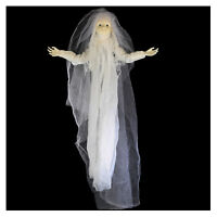 4' Light-Up Bride Ghost Doll Hanging Scary Halloween Haunted House Decoration