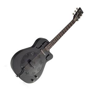 Resonator Guitar Cutaway Thinline Steel body with Electrics by Ozark 3515BTECBK