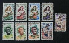 CKStamps: France Stamps Collection French Polynesia Scott#182-190 Mint H OG