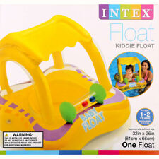 INTEX FLOAT Inflatable Swim Safe Baby Kiddie Float w Sunshade Ages 1-2 Year 33lb