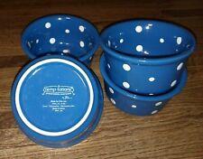 Set of 4 Round Mini Bakers 6 oz. Single Serve Ramekin Bowls Temptations by Tara