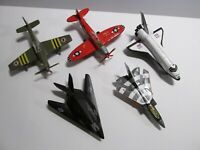 Lot of 5 Planes Pull Back Shing Fat Matchbox SB22, WZ Super Fighter Die Cast