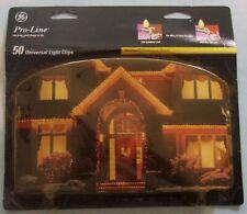 Christmas Light Clips 50 Pack GE Pro Line Universal NIP