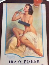 Zoe Mozert Morning Song 1956 Advertising Calendar Vintage Pinup