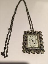 Vintage Sterling Silver Watch Necklace