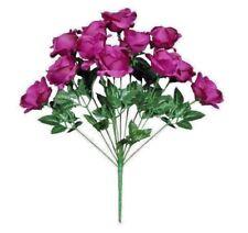 """12-Plum Rose 20"""" Tall Bouquet Silk Flower Home Office Kitchen Wedding Decor"""
