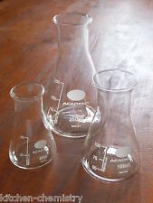 Glass Conical Flasks for Young Scientists Science Educational Chemistry Set Toy