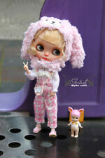 Girlish Blythe Dress Outfits Pink Cute Bunny Set for Kenner Neo Blythe doll