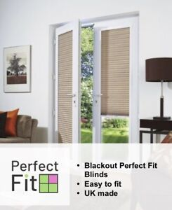 Blackout Perfect Fit Pleated Blinds - Ideal for Conservatory Windows and Doors