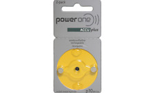 Power One ACCU Size 10 Rechargeable Hearing Aid Batteries (2 pcs) EXP 2015/2016