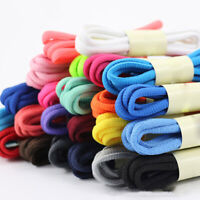 1Pair Oval Athletic Shoelaces Sport Sneaker Boots Shoe Laces Strings Solid Wild