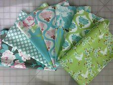 Freespirit Fabric Tanya Whelan Chloe Fabric Fat Quarter Bundle in Green and Blue