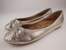 SPERRY TOP-SIDER Maya Gold Leather Ballet Flats Shoes Sz 6 M
