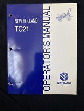 New Holland TC21 Operator's Manual TC21 *1014