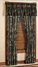 "Mossy Oak New Break Up Lined Curtains w/valance Camo 42"" x 84"" Rustic Cabin Fall"