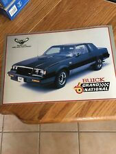 1987 BUICK GRAND NATIONAL THE AWESOME 12X17.9 INCH DEALER S.E. DISTRICT POSTER