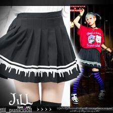 japan street punk KERA bleeding blood casual pleated uniform skirt 81612 BK