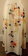 Per Una Size 12 Ladies Ivory Mix Floral Maxi Skirt Lined. Wedding Holiday BNWT