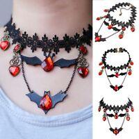 28.5cm Lace Halloween Gothic Vampire Bat Choker Collar Necklace Pendant J Gift