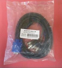 SVGA VGA HD15 Male to 5 BNC Male Monitor Cable 3M New Sealed P/N 3M SVGA 5BNC