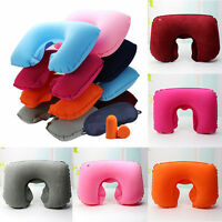 Car Flight Travel Soft Inflatable Neck Rest Cushion U Pillow Support/Comfortable