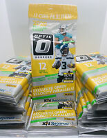 2020 DONRUSS OPTIC NFL FOOTBALL CELLO FAT/VALUE PACK BURROW HERBERT RC GREEN 12