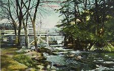 C.1910 Bridge at Hunts Mills.East Providence, R. I. Vintage Postcard P52