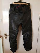 "RST Men's Black Leather Motorcycle Motorbike Trousers 34"" Waist, 32 inch  leg"