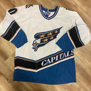 WASHINGTON CAPITALS JIM CAREY VINTAGE 90s STARTER NHL HOCKEY JERSEY ADULT LARGE