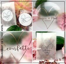 Heart Throw Me %7c Sprinkle with love sticker Transparent %7c gloss Wedding confetti