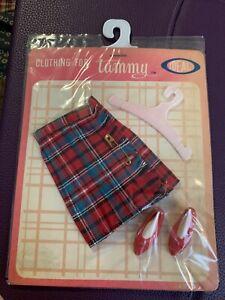 Vintage Ideal Tammy Doll Clothes Outfit #9233 Plaid Dress NOS In Original Pkg