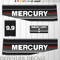 Mercury 9.9 HP Two Stroke outboard engine decal sticker Set 1989-1993