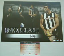 SCOTT PENDLEBURY COLLINGWOOD MAGPIES HAND SIGNED UNTOUCHABLE LIMITED PRINT