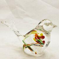 Murano colorful splatter beautiful art glass bird figurine paperweight New