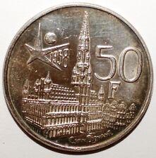 50 Francs Belgique argent 1958