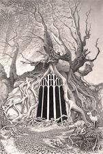 """Nuevo David alderslade """"puerta en verano"""" American Gothic Sleepy Hollow Pintura"""