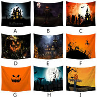 Halloween Tapestry Pumpkin Tree Print Wall Hanging Tapestry Art Home Decoration