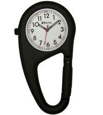 nurse clip on carabiner fob watch paramedic chef Ravel black R1105.01 F162