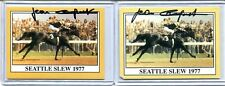 Lot of 2 JEAN CRUGUET Signatures Auto Autograph Seattle Slew Jockey